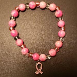 Breast Cancer Awareness Stretch Handmade Bracelet
